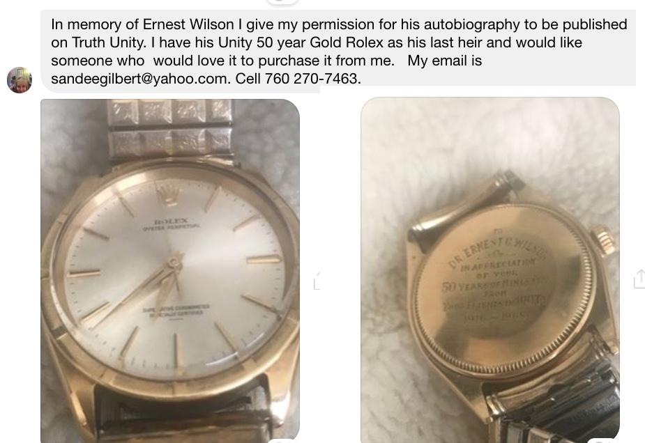 Ernest Wilson's Rolex watch