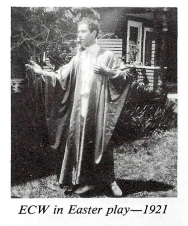 Ernest Wilson in Easter Play 1921