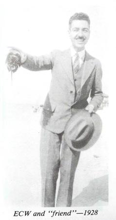 Ernest Wilson and friend 1928