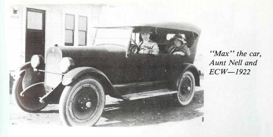 Ernest Wilson, Aunt Nell and Max the Car