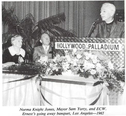 Ernest Wilson Norma Knight Jones and Mayor Sam Yorty 1965 Going Away Banquet