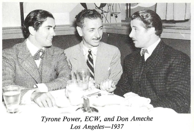 Ernest Wilson Tyrone Power and Don Ameche 1937 Los Angeles