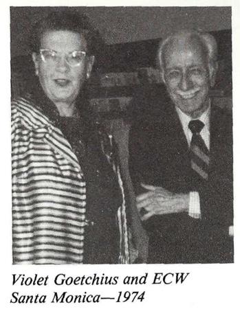 Ernest Wilson with Violet Goetchius 1974 Santa Monica