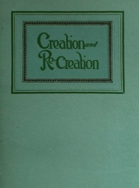 Creation and Recreation Cover