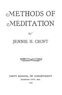 Jennie Croft - Methods of Meditation