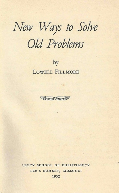 New Ways to Solve Old Problems Title Page