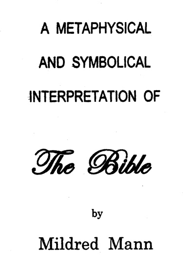 A Metaphysical and Symbolical Interpretation of the Bible Title Page