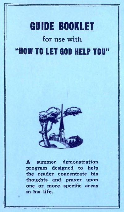 How To Let God Help You Guide Booklet cover