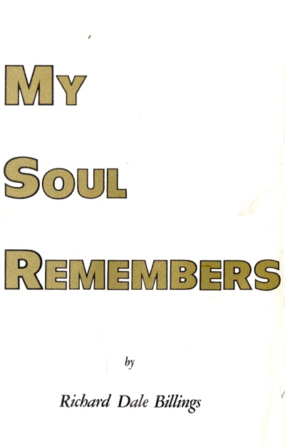 My Soul Remembers front Cover