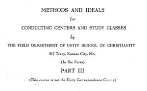 Directions For Study Classes Booklet