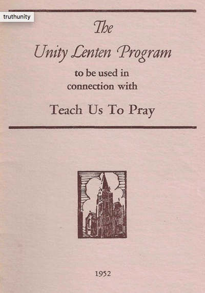 Teach Us To Pray Unity Lenten Program (1952) Cover