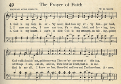 The Prayer of Faith entry in Unity Song Selections 1941