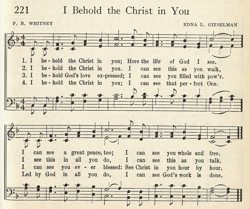 I Behold The Christ In You entry in Unity Song Selections 1941
