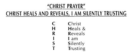 The Christ Prayer. Christ heals and reveals, I am silently trusting.