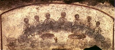 Agape Feast—3rd Century—Christian Catacomb—San Callisto