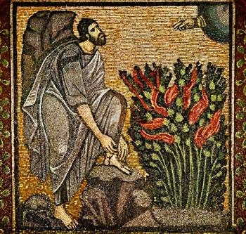 Burning Bush Byzantine mosaic 6th Century St Catherine's Monastery Siani