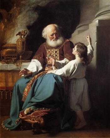 Painting of Samuel Reading to Eli the Judgments of God Upon Eli's House—1780