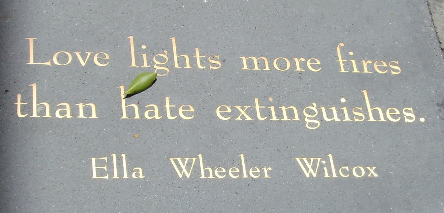 Ella Wheeler Wilcox quotation at City Lights Bookstore in San Francisco