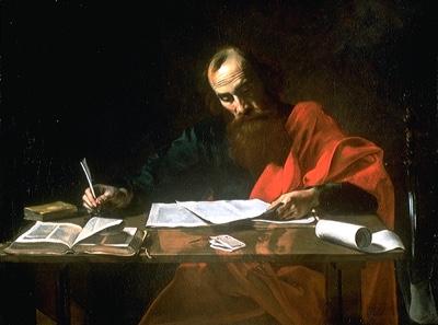 Saint Paul Writing His Epistles by Valentin de Boulogne