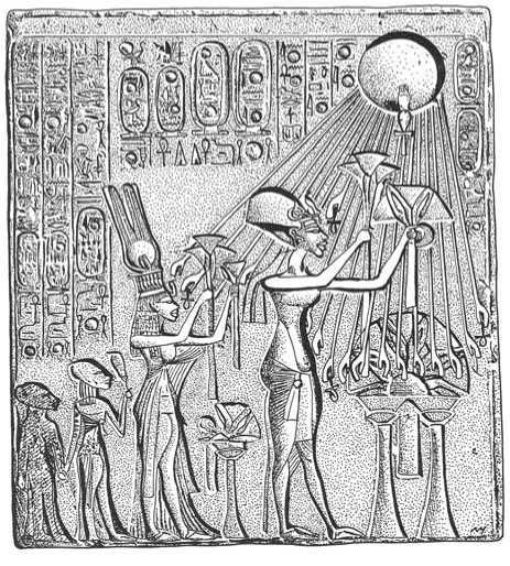 Akhenaten Amarna Tombs hieroglyphic