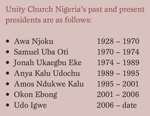 Past presidents of Unity Church Nigeria