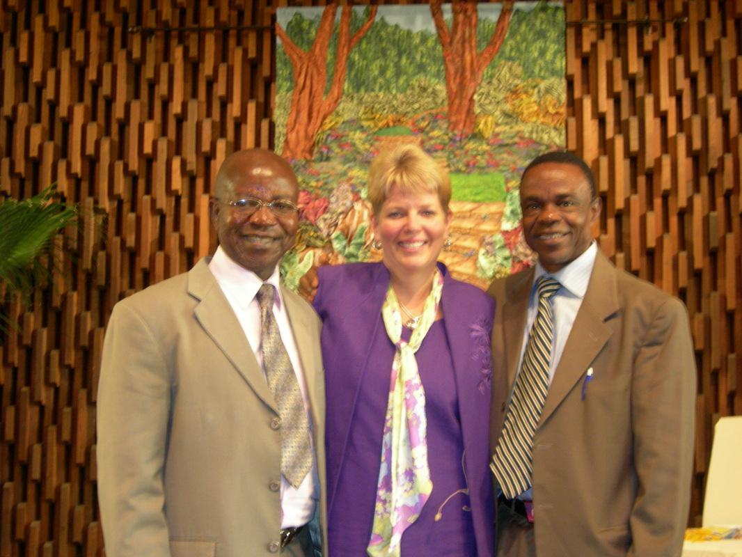 Amos Kalu with Lisa Davis