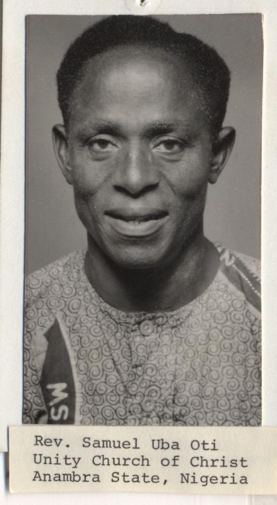 Samuel Uba, Unity minister in Nigeria