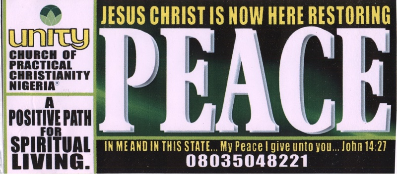 Bumper Sticker: Jesus Christ is Now Here Restoring Peace