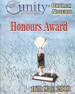 Nigerian Unity Honours Award 2009 Program