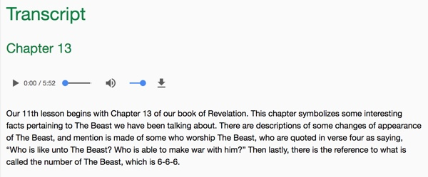 screenshot of Ed Rabel interpretions for Revelation 13 on TruthUnity