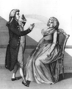 Franz Mesmer with a patient