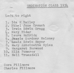 Unity Ordinations List1934