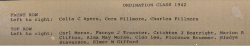 Unity Ordination Photo Back 1942