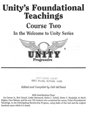 Course 2-Unity's Foundational Teachings Cover