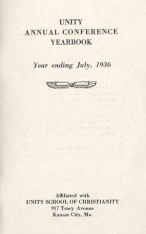 1936 Unity Annual Conference Yearbook