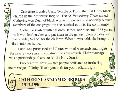 Catherine and James Brooks tribute