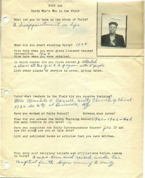 Ruth Cox Field Department Survey