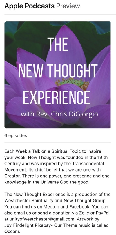The New Thought Experience with Chris DiGiorgio