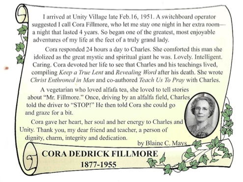 Cora Fillmore tribute by Blaine Mays