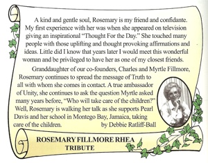 Rosemary Fillmore tribute by Debbie Ratliff-Ball