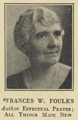 Frances W. Foulks - Unity Minister