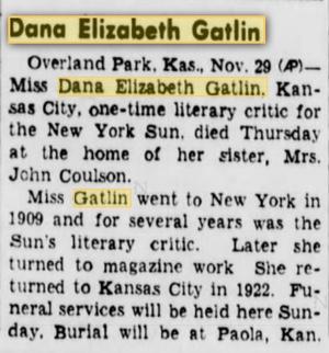 Dana Gatlin Obituary