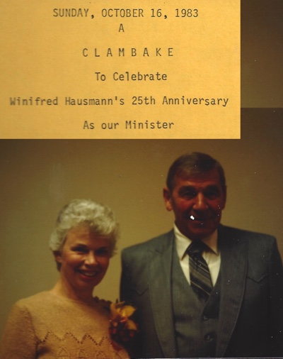 Rev. George Hausmann and Rev. Winifred Wilkinson Hausmann in 1983