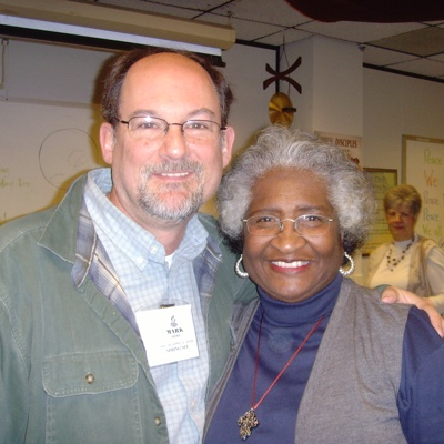 Rev. Gloria Holt with Mark Hicks March 2008
