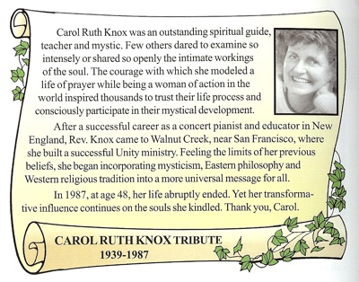 Tribute to Carol Ruth Knox
