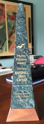 Myrtle Fillmore Award to Max Lafser in 2006