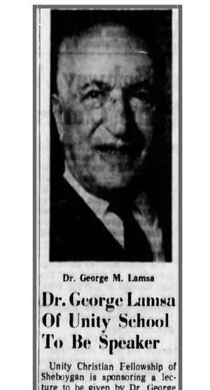 Newspaper Articles on George Lamsa