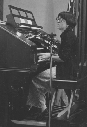 Janet Manning at the organ. Unity Village, 1970