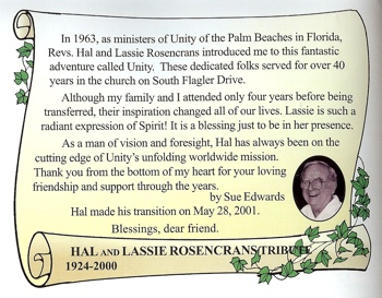 Hal and Lassie Rosencrans Tribute by Sue Edwards