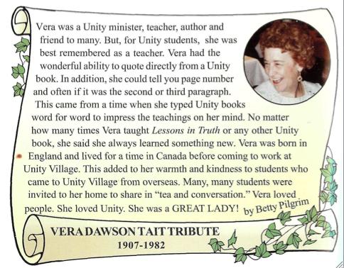 Vera Dawson Tait Betty Pilgrim Testimonial